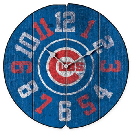 Mlb Chicago Cubs Vintage Round Wall Clock Bed Bath Amp Beyond