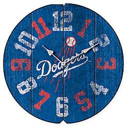 MLB Los Angeles Dodgers Vintage Round Wall Clock