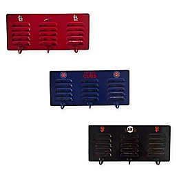 MLB 3-Hook Metal Locker Coat Rack Collection
