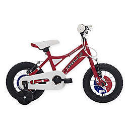 NBA Chicago Bulls 12-Inch Kids Mountain Bike in Red/Black