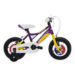 NBA Los Angeles Lakers 12-Inch Kids Mountain Bike in Yellow/Purple