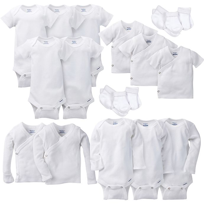 Alternate image 1 for Gerber® Layette Basic White Separates Collection