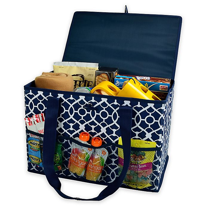 Alternate image 1 for Picnic at Ascot 12-Inch x 18-Inch Collapsible Storage Organizer in Blue