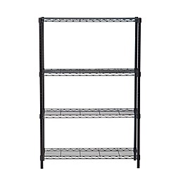 Trinity Heavy-Duty 4-Shelf Wire Rack in Bronze