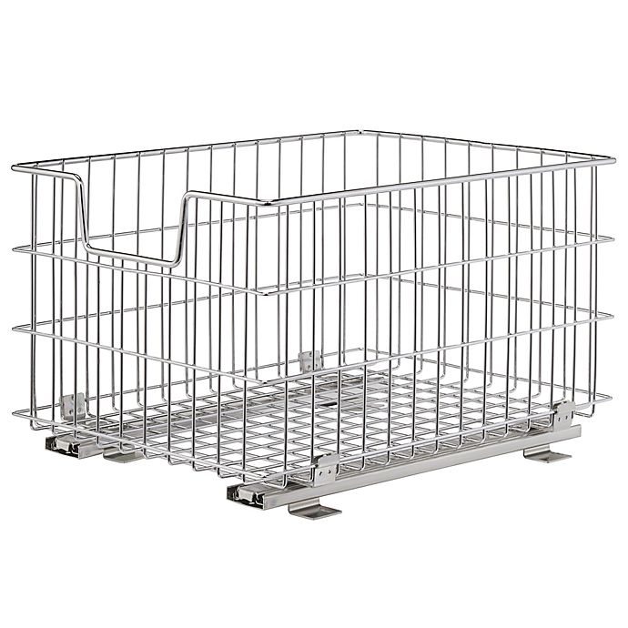 Alternate image 1 for Trinity EcoStorage™ Wire Sliding Basket in Chrome