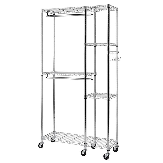 Alternate image 1 for Trinity EcoStorage™ Wheeled Closet Organizer in Chrome