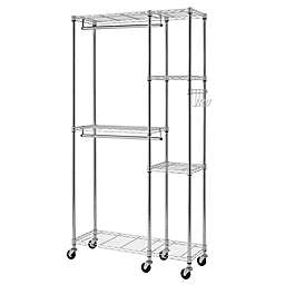 Trinity EcoStorage™ Wheeled Closet Organizer in Chrome