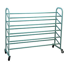 Oceanstar Design 5-Tier Metal Shoe Rack in Turquoise