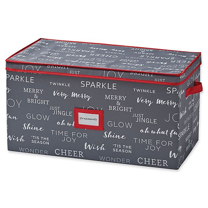 Alternate image 1 for Real Simple® Holiday 96-Count Ornament Storage Chest