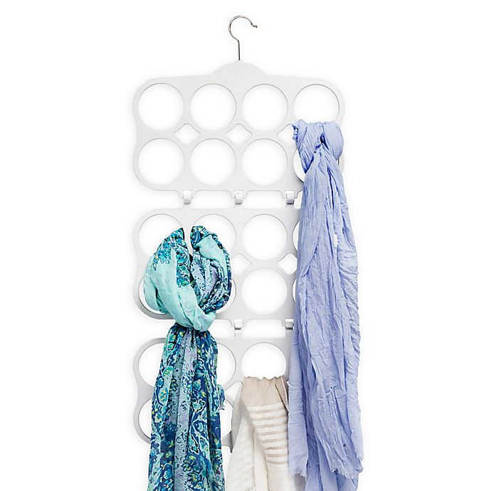 Alternate image 1 for Real Simple® Folding Scarf Hanger in Dove