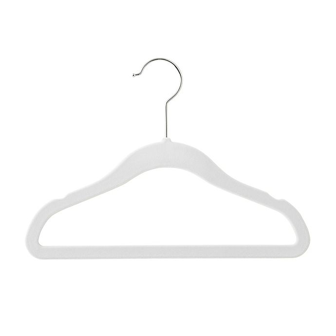 Alternate image 1 for Real Simple® 30-Count Kid's Flocked Hangers in Dove