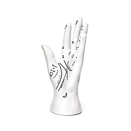Kikkerland® Palm Reader Jewelry Stand in White