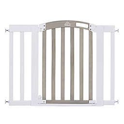 HomeSafe Classic Home Walk-Through Gate in White/Grey