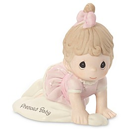 Precious Moments® Growing in Grace Precious Baby Brunette Girl Figurine