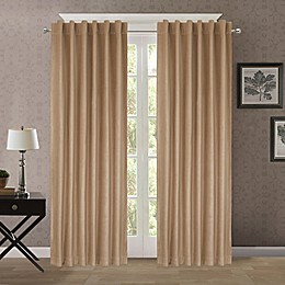 Heathered Velvet Back Tab/Rod Pocket Room Darkening Window Curtain Panel