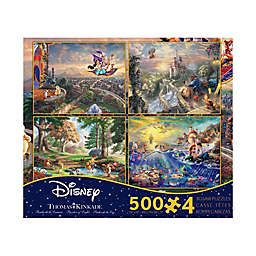 Thomas Kinkade Trade Disney Dreams Reg 4 In 1 Multi Pack Jigsaw Puzzle