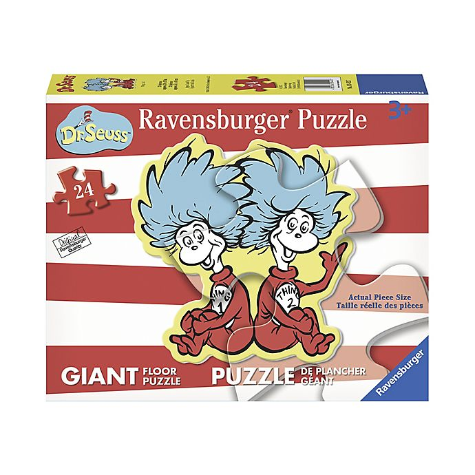 Alternate image 1 for Dr. Seuss® 24-Piece Thing 1 and Thing 2 Shaped Giant Floor Puzzle