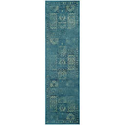 Safavieh Vintage Tile 2-Foot 2-Inch x 8-Foot Runner in Turquoise/Multi