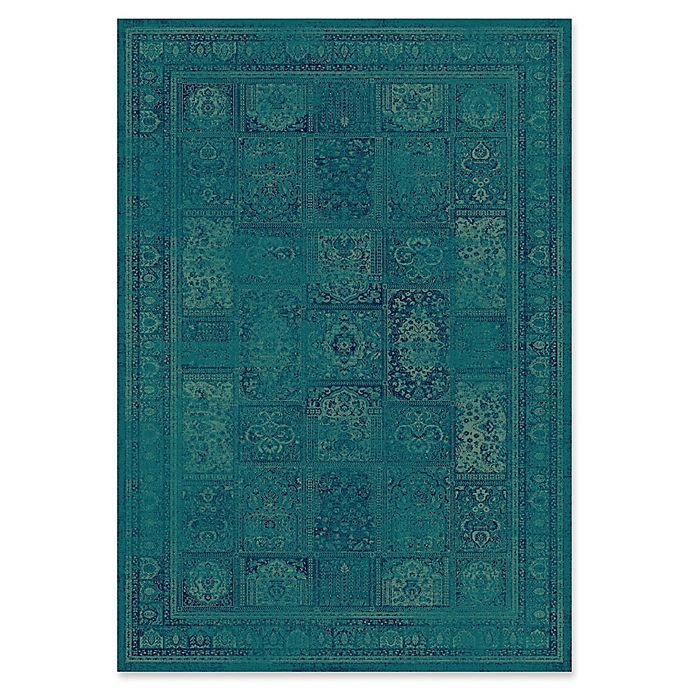Alternate image 1 for Safavieh Vintage Tile 4-Foot x 5-Foot 7-Inch Area Rug in Turquoise/Multi