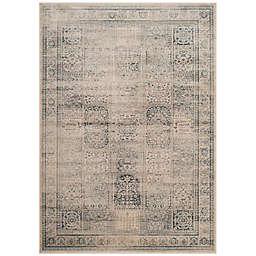 Safavieh Vintage Tile 4-Foot x 5-Foot 7-Inch Area Rug in Stone/Blue