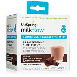UpSpring® Milkflow™ Fenugreek and Blessed Thistle 18-Pack Drink Mix in Chocolate