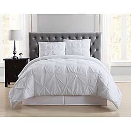 Truly Soft Pleated 2-Piece Twin XL Comforter Set in White