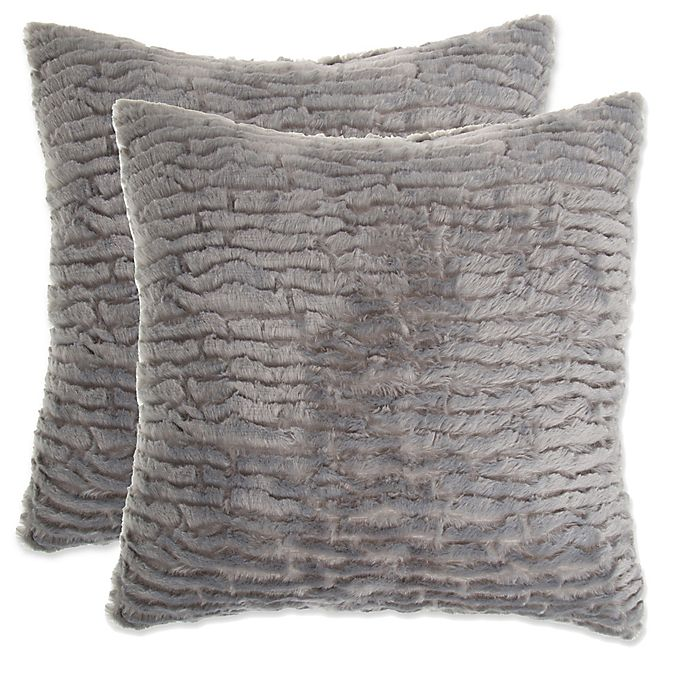 Waterfall Faux Fur Pillow Set Of 2 Bed Bath Beyond
