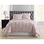 Truly Soft Pleated Full/Queen Comforter Set in Blush