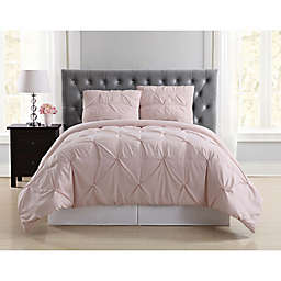 Truly Soft Pleated 2-Piece Twin XL Duvet Cover Set in Blush