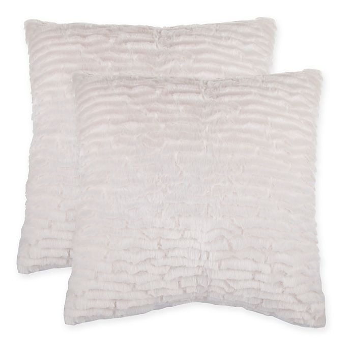 Faux Fur Pillow And Throw Set.Waterfall Faux Fur Pillow Set Of 2 Bed Bath Beyond
