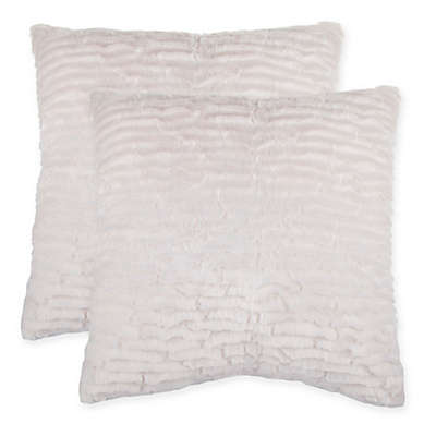 Waterfall Faux Fur Pillow (Set of 2)