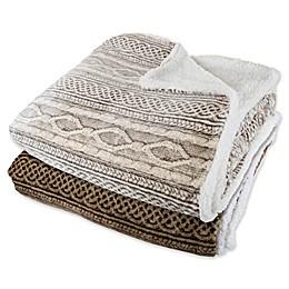 Nottingham Home Reversible Fleece Blanket