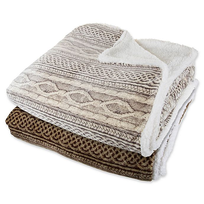 Nottingham Home Reversible Fleece Blanket Bed Bath Beyond