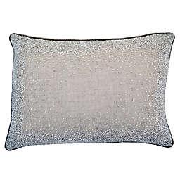 Beaded Linen Oblong Throw Pillow in Wheat