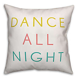 "Designs Direct ""Dance All Night"" Square Throw Pillow in Yellow/Coral/Blue"