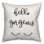 Designs Direct  Hello Gorgeous  Throw Pillow in Black/White