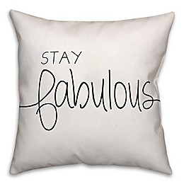 Designs Direct Stay Fab Square Throw Pillow in Black/White