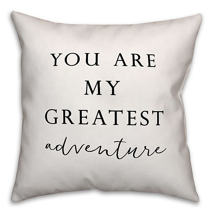 Alternate image 1 for Designs Direct Greatest Adventure Square Throw Pillow in Black/White