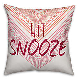 "Designs Direct ""Hit Snooze"" Throw Pillow in Orange/Pink"