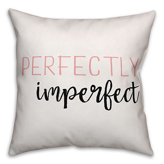 Alternate image 1 for Designs Direct Perfectly Imperfect Square Throw Pillow in Pink/White/Black