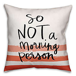Designs Direct Not a Morning Person Square Throw Pillow in Red/Black