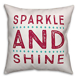 Designs Direct Sparkle and Shine Square Throw Pillow in Pink/Teal
