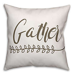 "Designs Direct ""Gather"" Throw Pillow in Brown/White"