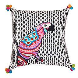 Thro by Mario Lorenz Iago Parrot Embroidered Throw Pillow