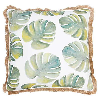 Thro by Mario Lorenz Frances Watercolor Beaded Throw Pillow