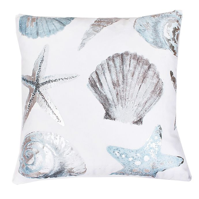 Alternate image 1 for Thro by Mario Lorenz Lima Shell Throw Pillow in Blue/Silver