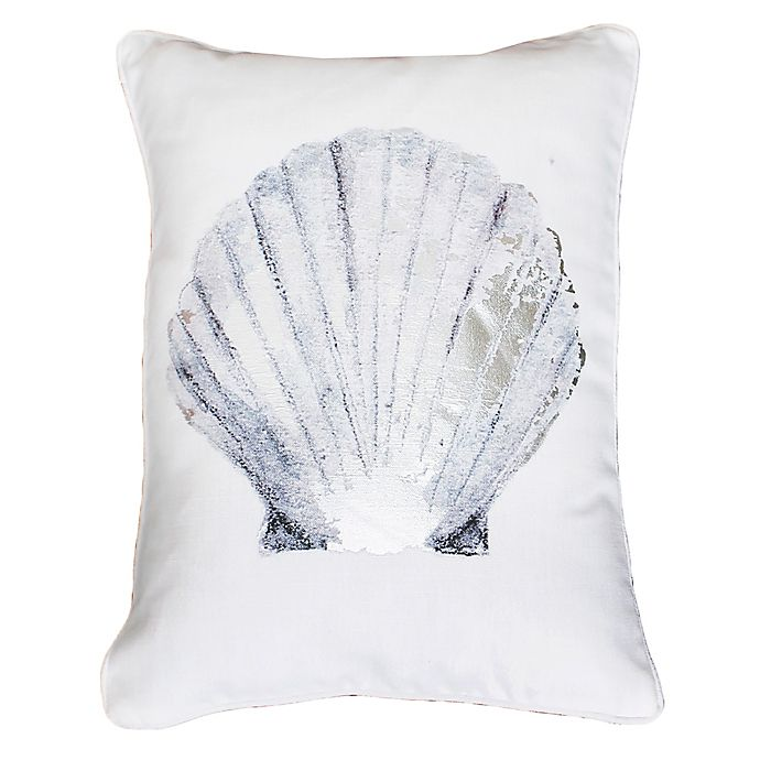 Alternate image 1 for Thro by Mario Lorenz Shona Shell Throw Pillow in Blue/Silver