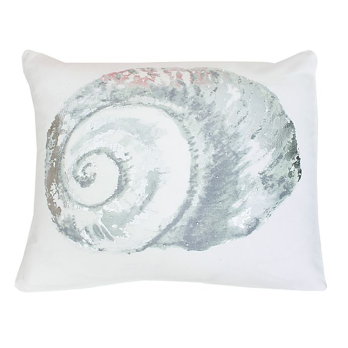 Alternate image 1 for Thro by Mario Lorenz Marcell Shell Throw Pillow in Blue/Silver