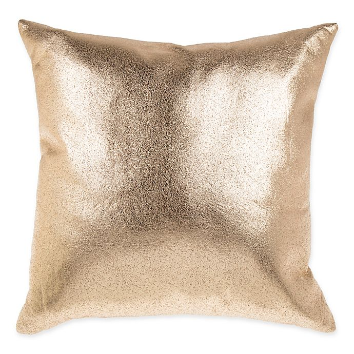 Metallic Foil Square Throw Pillow In Gold Bed Bath Beyond