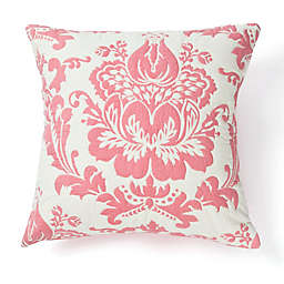 Amity Home Damask Square Throw Pillow in Coral